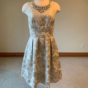 Eliza J gold midi dress